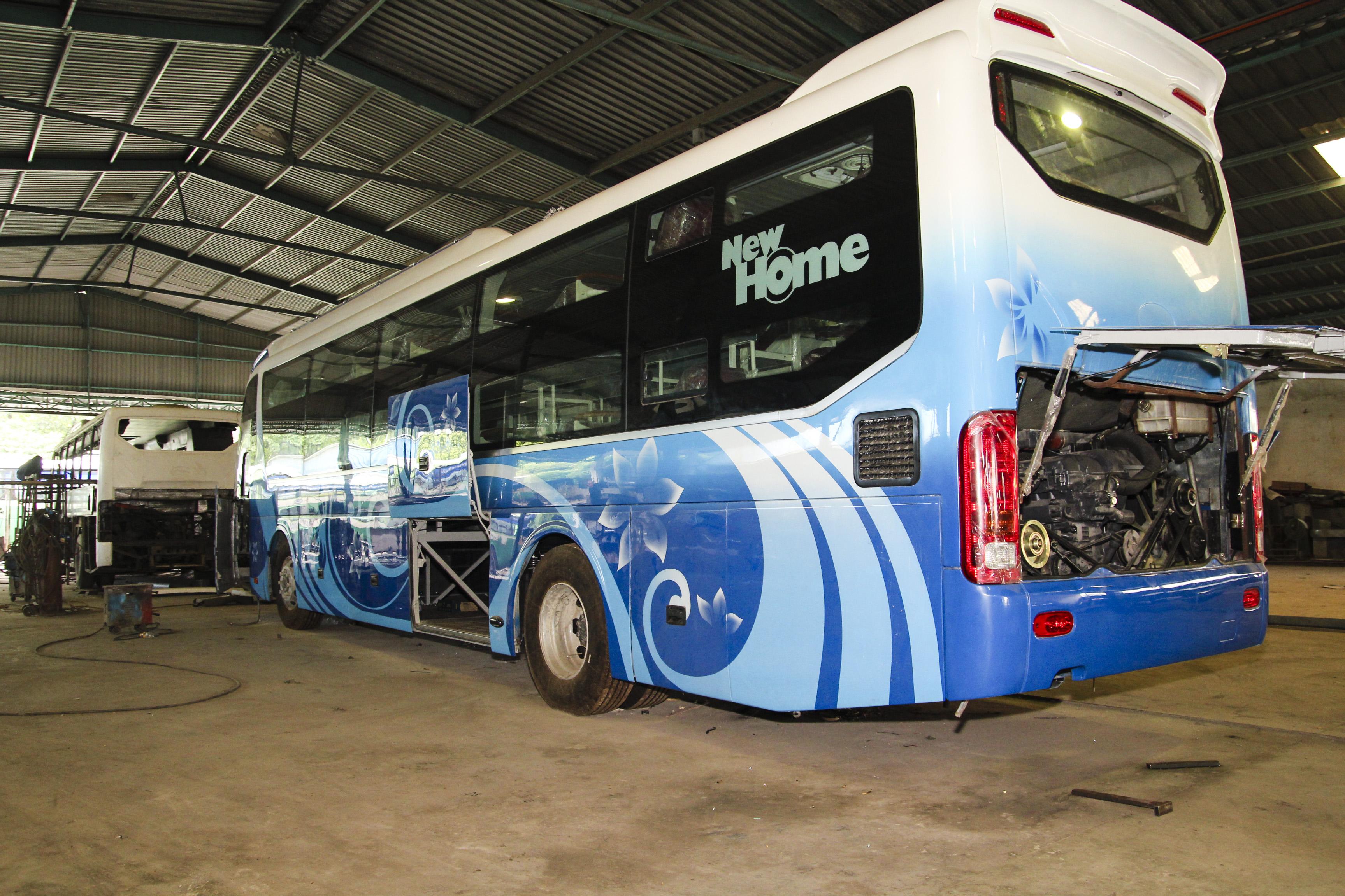 Xe khách HTX vận tải du lịch và cơ giới Thương Tín