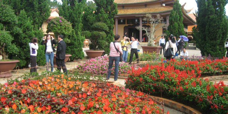Khu vườn hoa sinh động của thiền viện Trúc Lâm